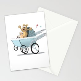 Racing Baby Stationery Cards