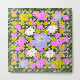 Multicolor Skyflowers Pattern Metal Print