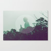 namaste Canvas Prints featuring namaste by Sknowlesy