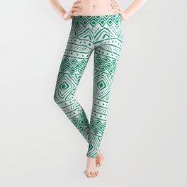 African Mud Cloth // Aquamarine Leggings