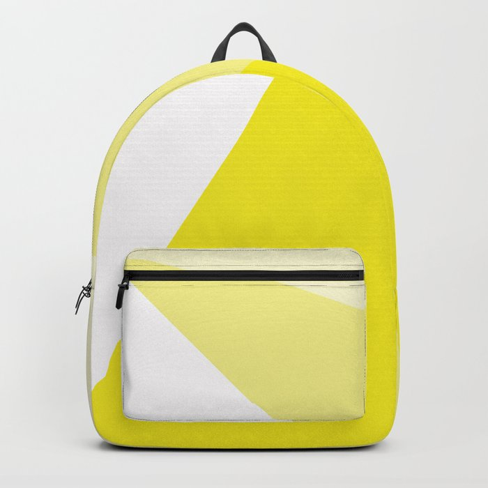 Simple Geometric Triangle Pattern- White on Yellow - Mix & Match with Simplicity of life Backpack