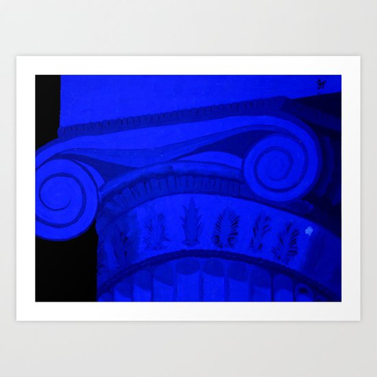 Monochromatic Column Art Print