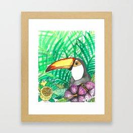 Toucan with passion fruit, Viva La Vida Framed Art Print