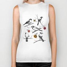 BIRDS & FLOWERS Biker Tank