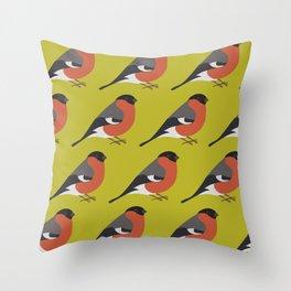 Bullfinc Throw Pillow