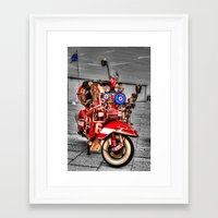 vespa Framed Art Prints featuring Vespa by Doug McRae