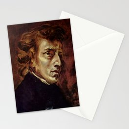 The Portrait of Frédéric Chopin by French artist Eugène Delacroix (1838) Stationery Cards