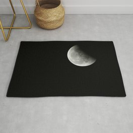 2019 Supermoon (perigean full moon) Moon Eclipse Rug