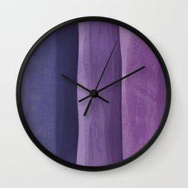 Purple Gradient on Wood Wall Clock