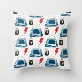 Bowie MajorTom stuff seamless pattern  Throw Pillow