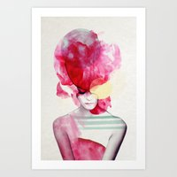 yellow Art Prints featuring Bright Pink - Part 2  by Jenny Liz Rome