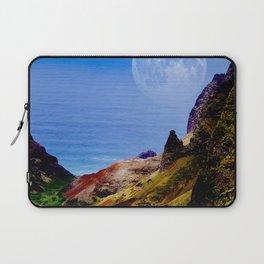 Hawaii Moon Over Coastal Cliffs Laptop Sleeve