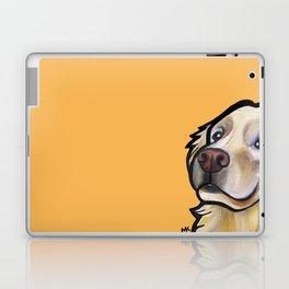 George the golden retriever (orange) Laptop & iPad Skin