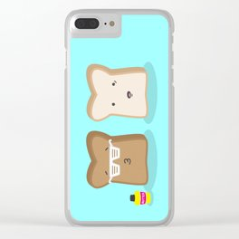 Toasty Cool Clear iPhone Case