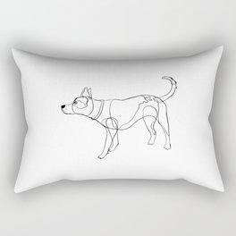 Minimalist line art drawing of Year of the Dog Rectangular Pillow