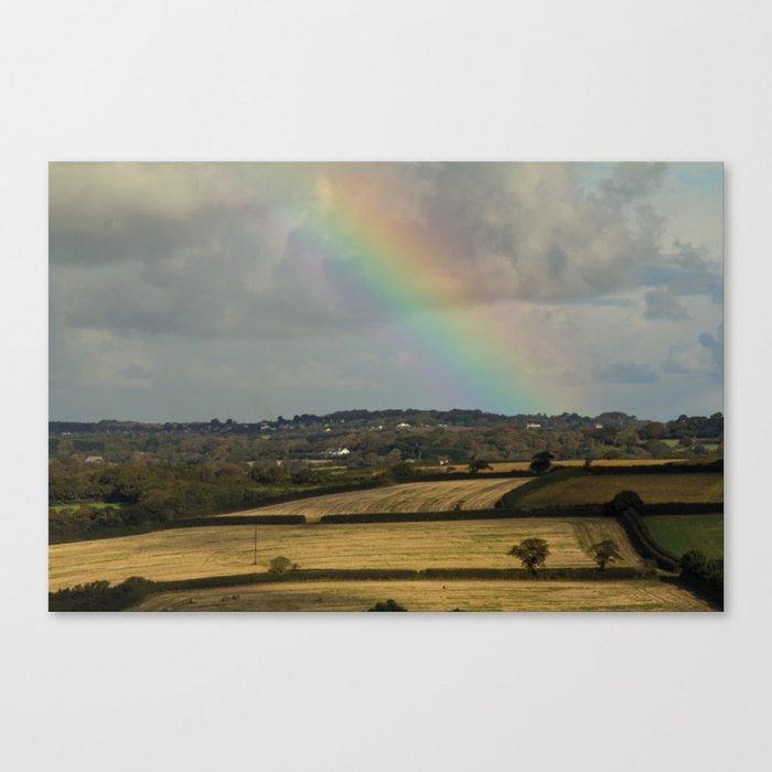Rainbow Over Fields Canvas Print