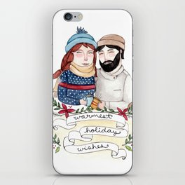 Warmest Holiday Wishes iPhone Skin
