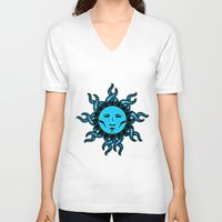 sublime V-neck T-shirts featuring Sublime Blue Moon Psychedelic Character Design Logo by CAP Artwork & Design