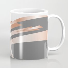 Rosegold Gray Abstract Art Coffee Mug