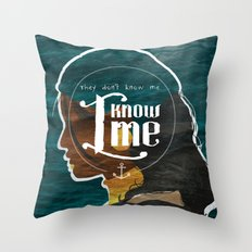 I Know Me Throw Pillow