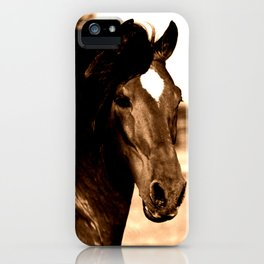 Horse print horse photography equestrian art sepia Poster iPhone Case