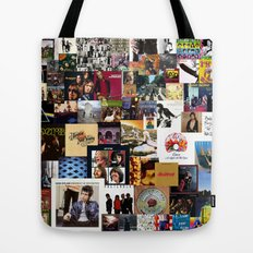 Classic Rock And Roll Albums Collage Tote Bag