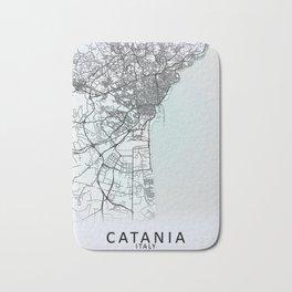 Catania, Italy, White, City, Map Bath Mat