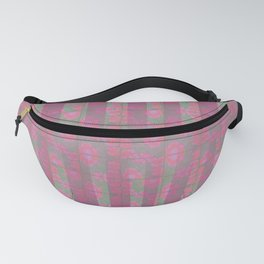 Poppies and lines Fanny Pack