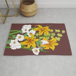 bouquet of lilies Rug
