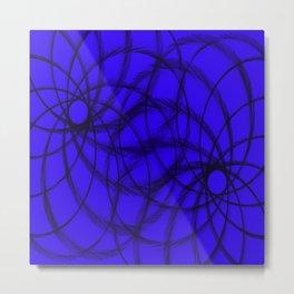 Purple and Black spirals Metal Print