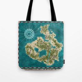 Pirate Adventure Map Tote Bag