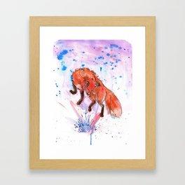 Color Fox Framed Art Print