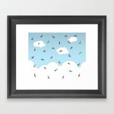 SkyDivers! Framed Art Print