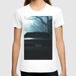 CAR AT DRAMATIC STREET DURING NIGHT T-shirt