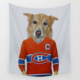 dog in sportwear Wall Tapestry