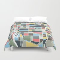 portland Duvet Covers featuring Portland. by Studio Tesouro