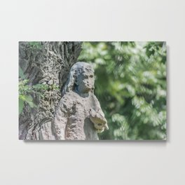 Cemetery Statue Wunder's Cemetery Clark and Irving Chicago Metal Print