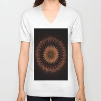 black and gold V-neck T-shirts featuring Gold by Jane Lacey Smith
