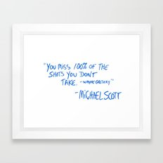 The Office Quote Framed Art Print