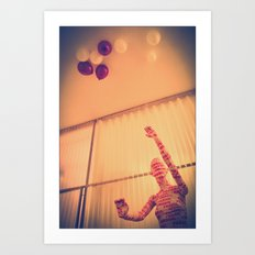 take care with your party time. I'm fragile Art Print