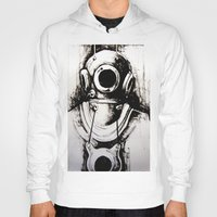"diver Hoodies featuring ""Diver"" by Scott Lenaway"
