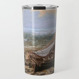 The Fishing Boat by Gustave Courbet , 1865 Travel Mug