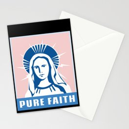 Religious Pure Faith Virgin Mary Mother of God  Stationery Cards