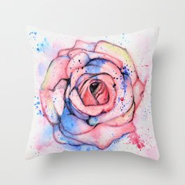 Colorful Rose Throw Pillow
