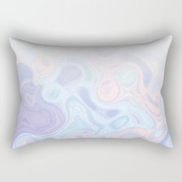Liquid Pastel Marble Ombre 1. lilac, nude and aqua #pastelvibes #homedecor #buyart Rectangular Pillow