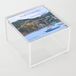 """""""Catalina Harbor""""/ """"Time"""" Acrylic Box"""