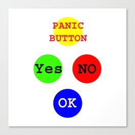 Yes No Buttons jGibney The MUSEUM Society Gifts Canvas Print