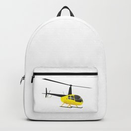 Light Black and Yellow Helicopter Backpack