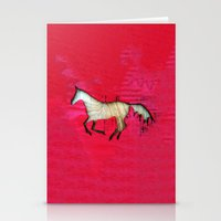 horse Stationery Cards featuring Horse by Brontosaurus