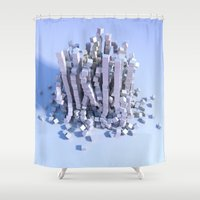 physics Shower Curtains featuring Cube physics  by Adoryanti